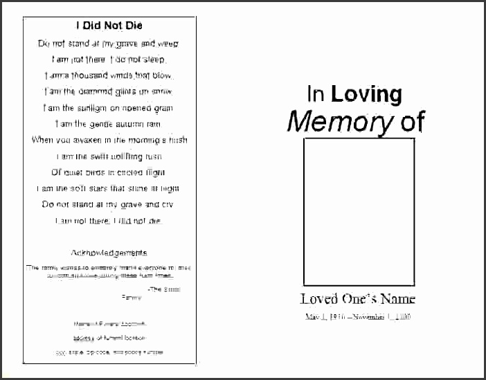 printable funeral program templates on templates mar 25 2011