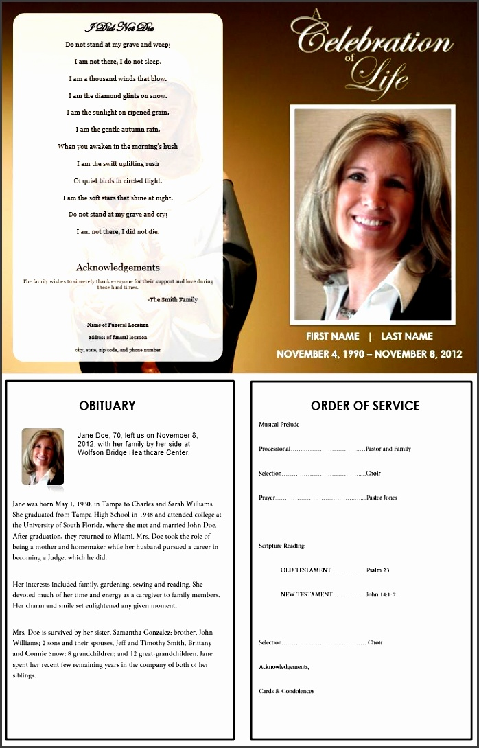 virgin mary funeral program template inside consists of an obituary template and the order of service template more funeral program templates fo