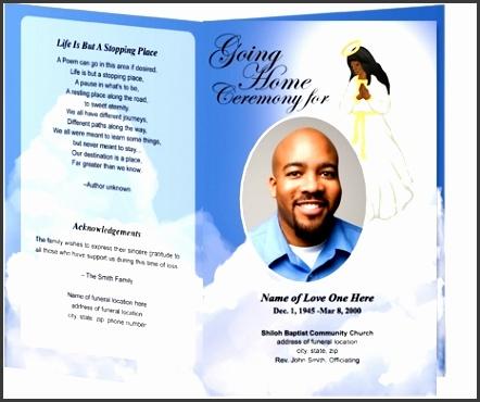 free memorial program template free funeral program inside free printable
