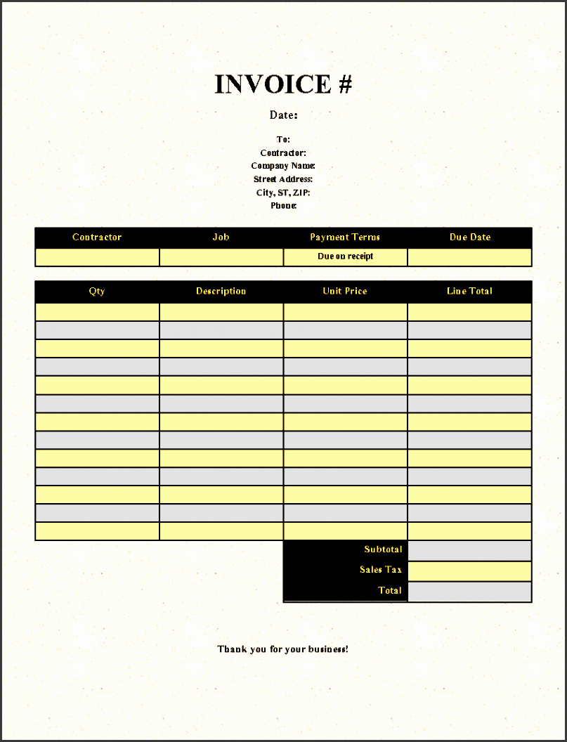 free invoice template printable invoice templates