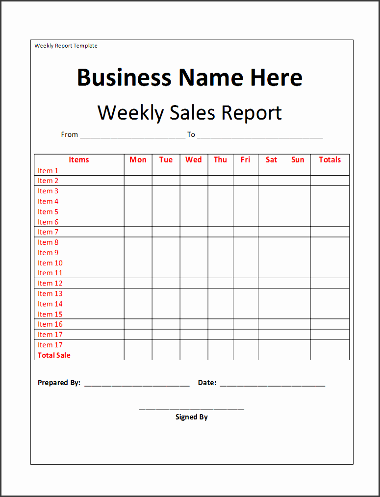 15 weekly marketing report templates excel pdf formats throughout marketing weekly report template 9965