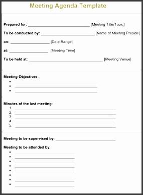 free blank meeting agenda template