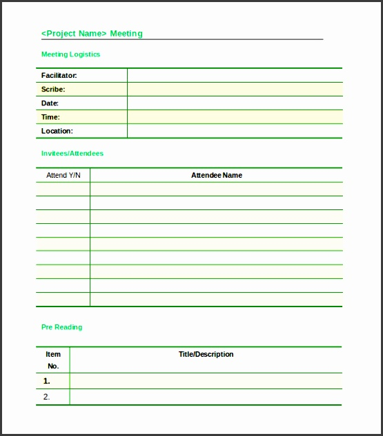 meeting document template
