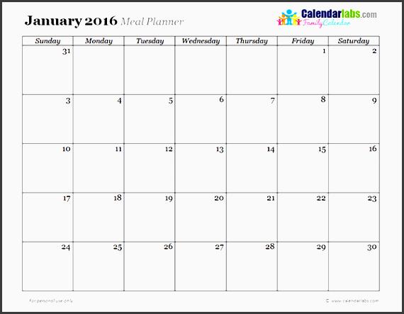 2016 monthly menu planner 03 free printable templates