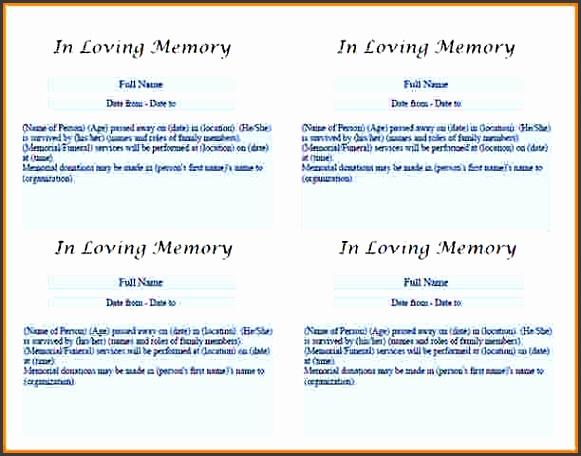 10 printable obituary template