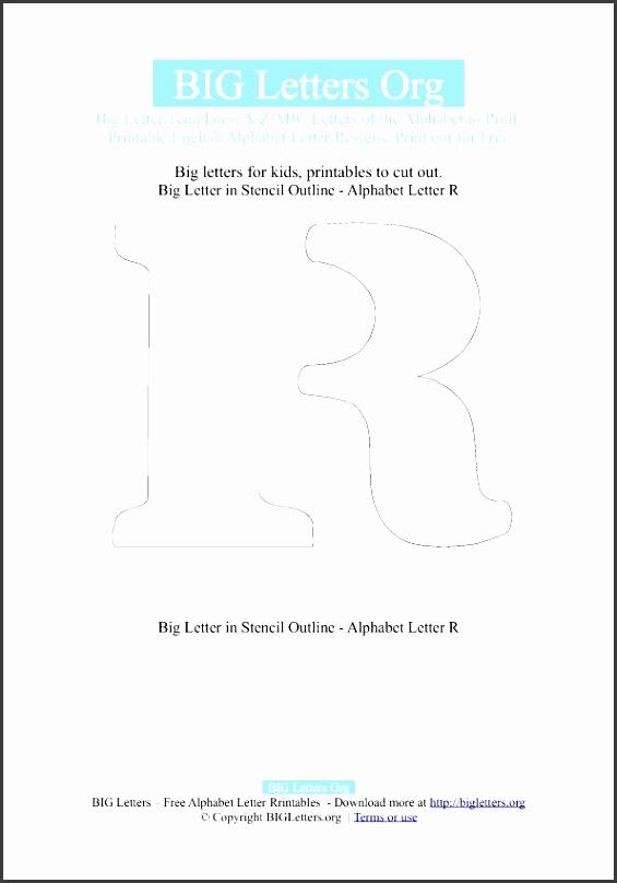 big letter r template stencil outline