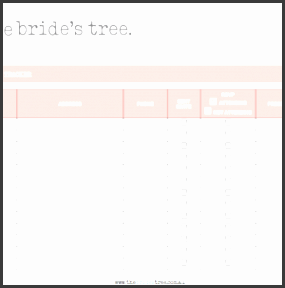 Easy To Use Wedding Guest Address List Template With Red Table A Part Of  Under Other  Bridal Party List Template