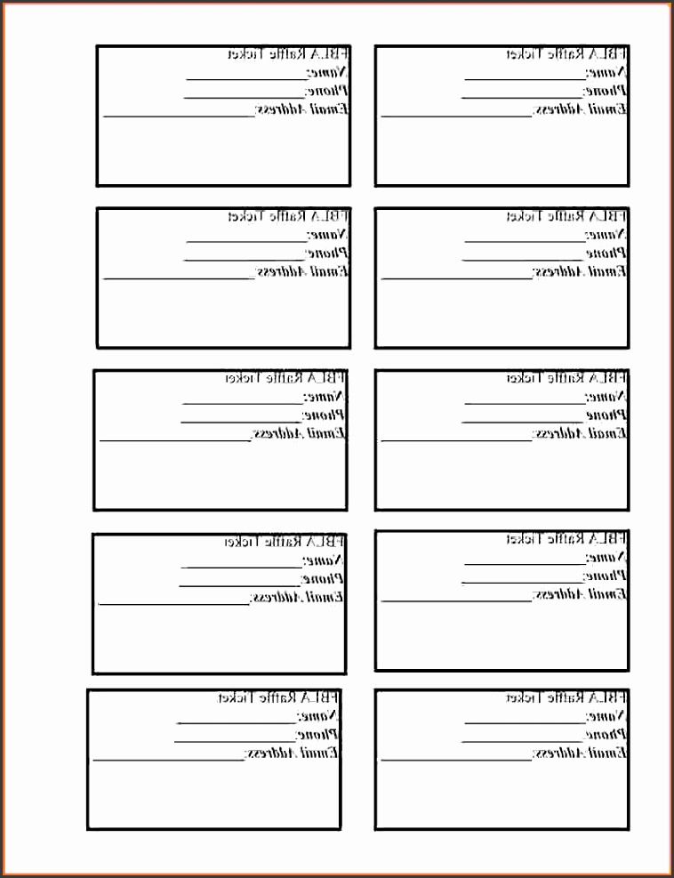top 10 free printable raffle tickets template file