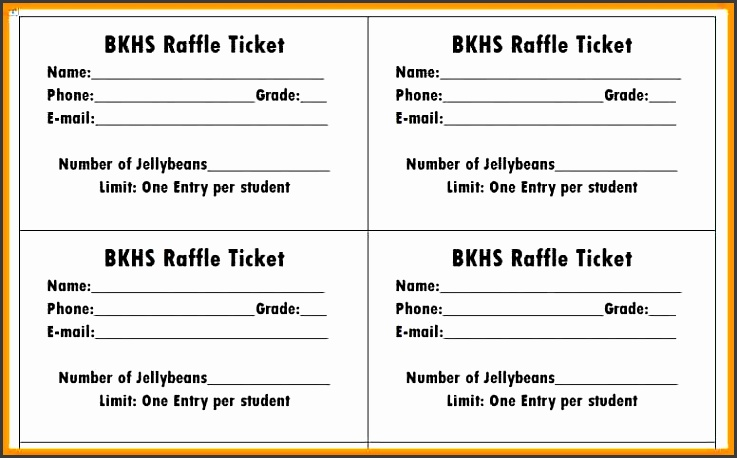printable raffle ticket template printable raffle ticket template