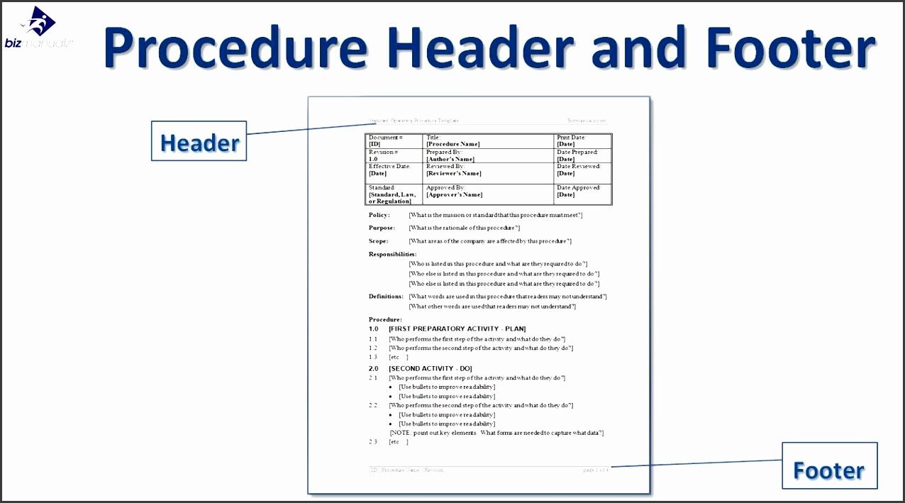 10 Printable Standard Operating Procedure Template