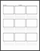 sample printable ic storyboard template word template