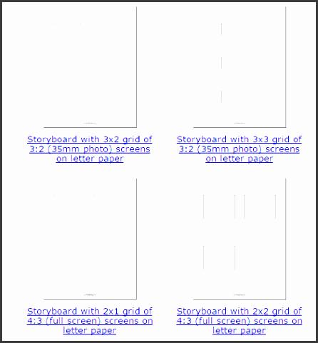 60 printable storyboard template