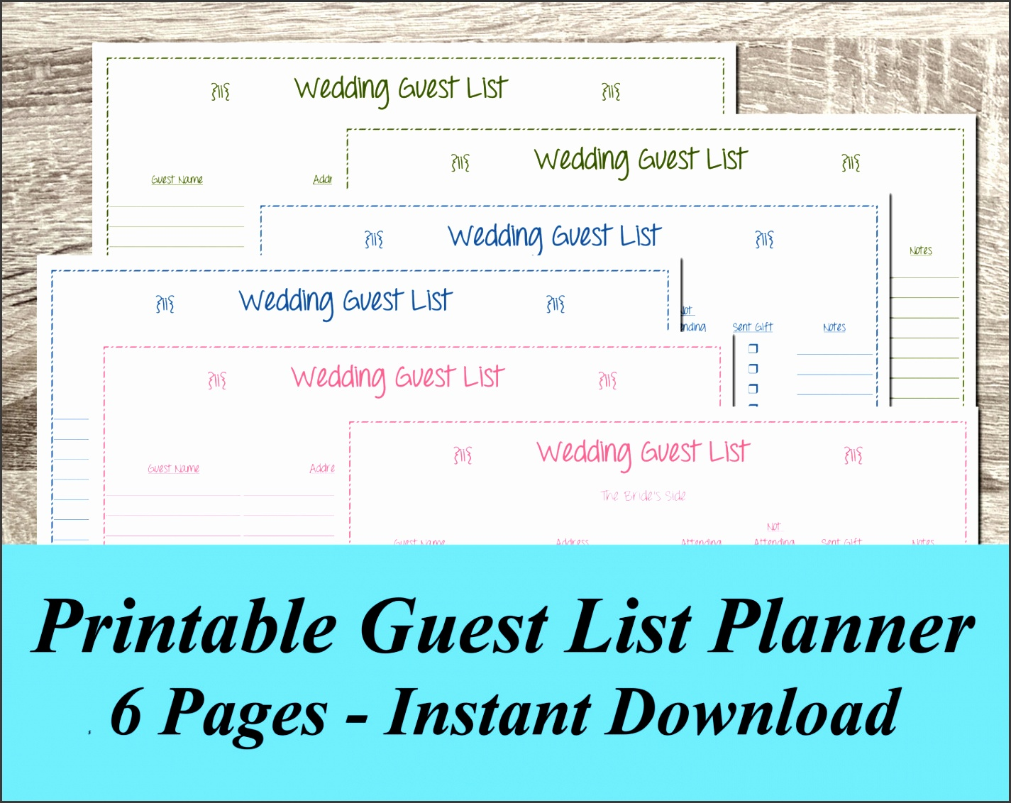 Nice Wedding Planning Guest List Template Pictures >> Wedding Guest ...