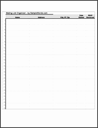 free printable wedding guest list templates success this pocket has e in very handy it holds all of my thank you notes