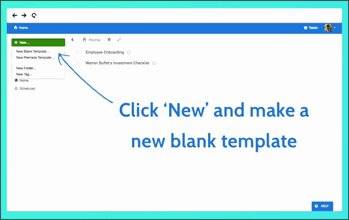 create a checklist template