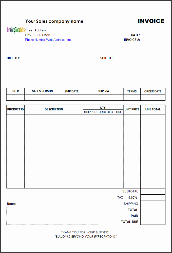 backorder billing form