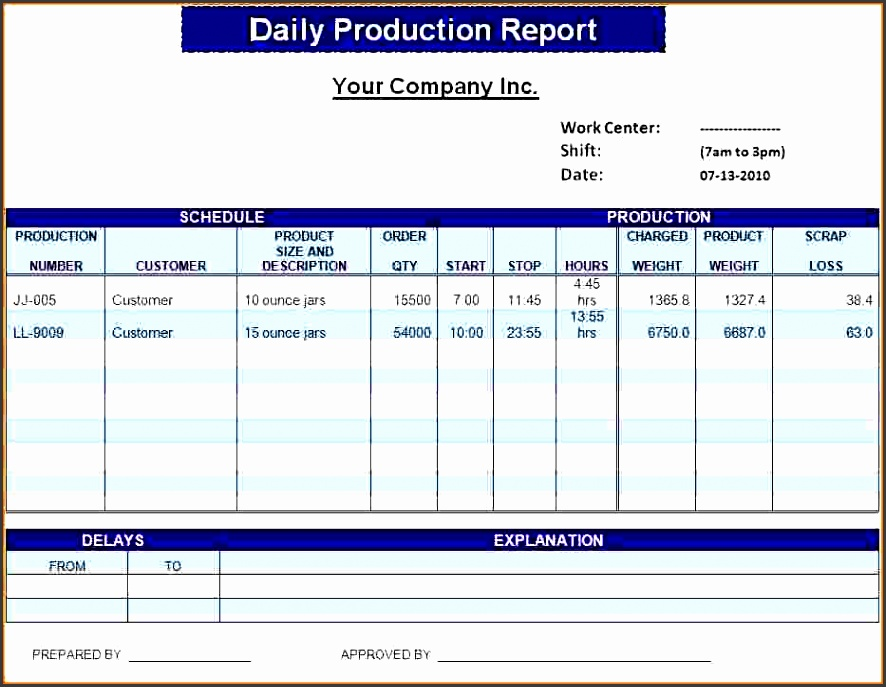 daily status report template