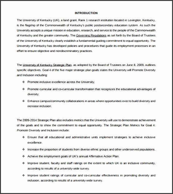 affirmative action plan template for small business 6