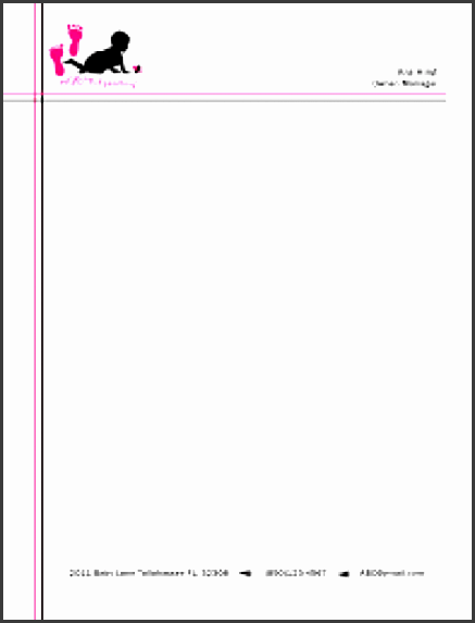 professional letterhead sample