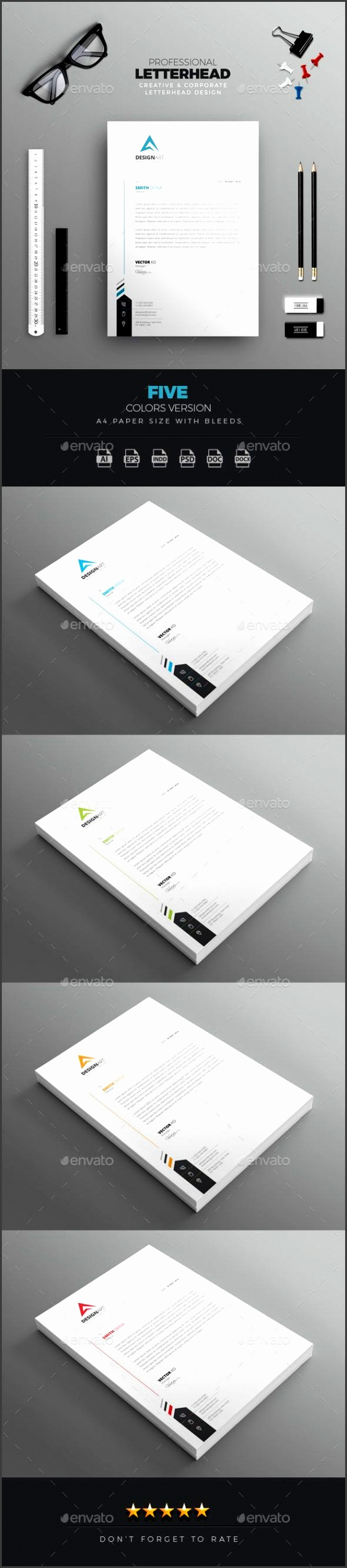 professional letterhead stationery print templateswnload here graphicriver