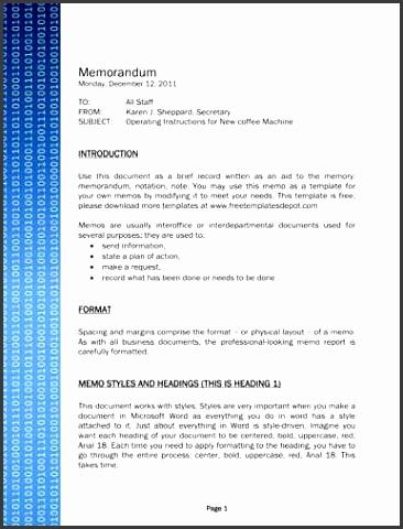 binary code technology memo