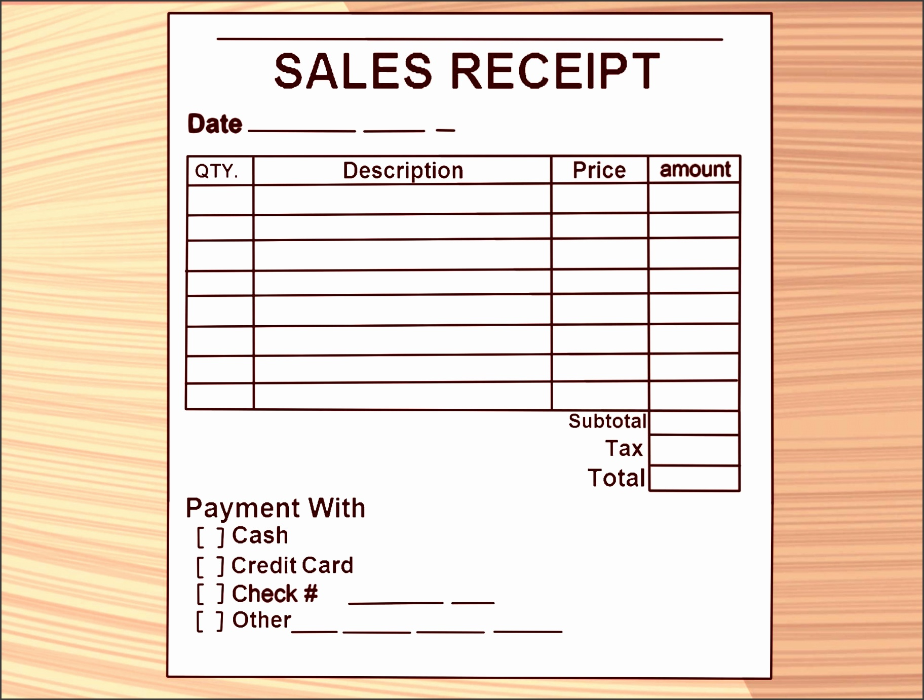 how to write receipt steps with pictures wikihow furniture purchase invoice template step version professional pany