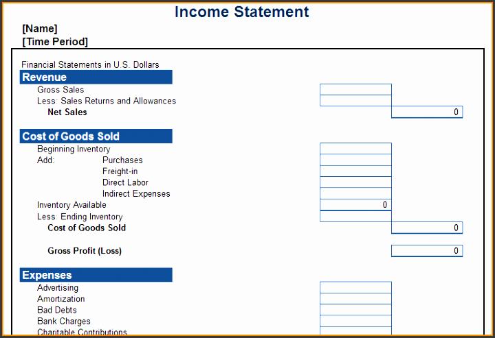13 profit and loss statement free template sql print statement