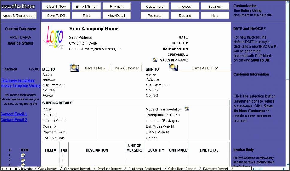 free proforma invoice form uniform invoice software edition
