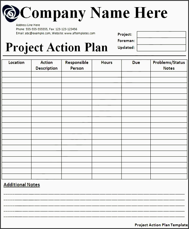 action plan template all free templates excel word templates
