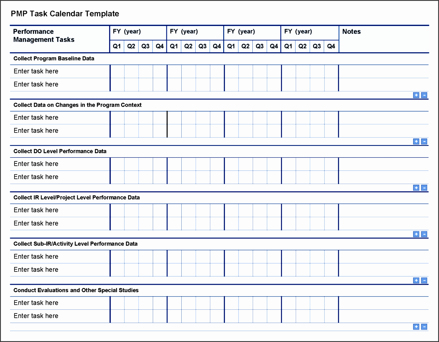 pmp task calendar template page 1 sample project checklist examples of management requirements implementation closure handover