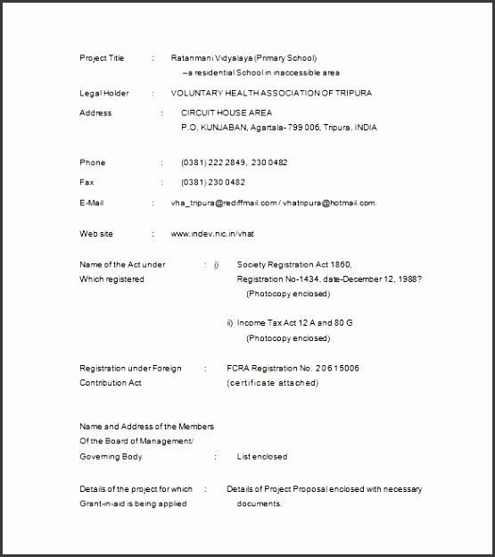 proposal sample template