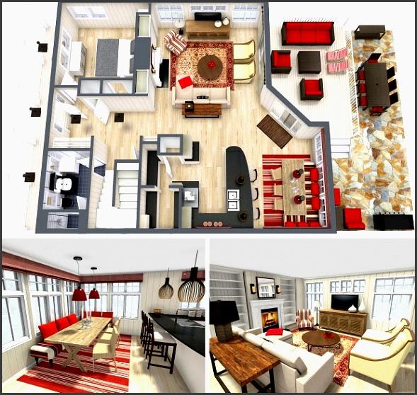 roomsketcher home design software interior design project 3d floor plan