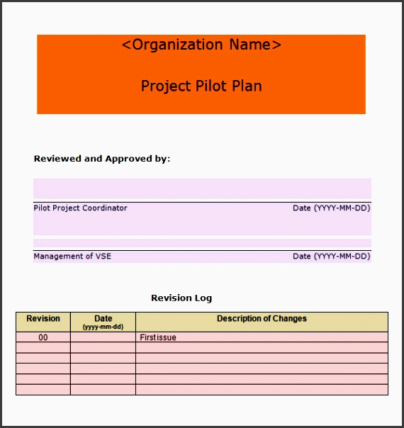 project plan template free 1