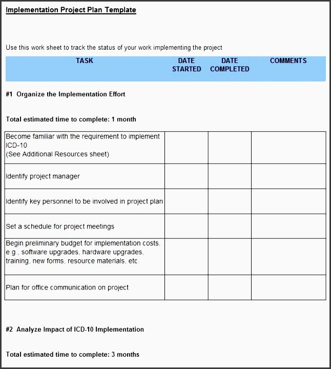 project implementation plan template 5 free word excel for software implementation plan template