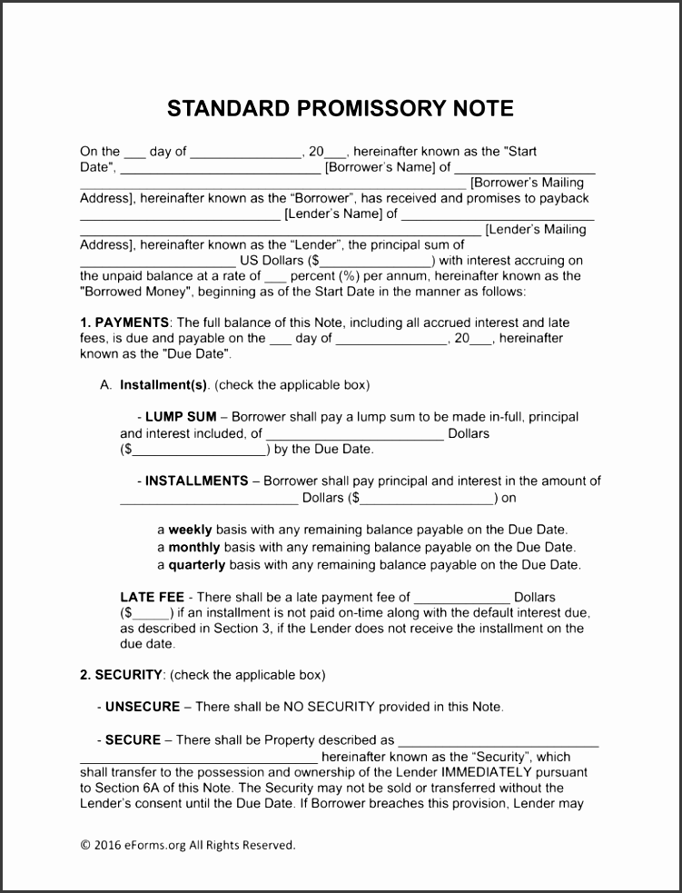 free promissory note templates word pdf eforms free fillable forms