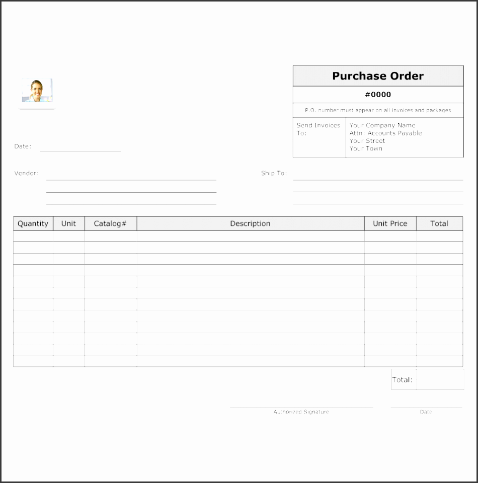 purchase order template bn