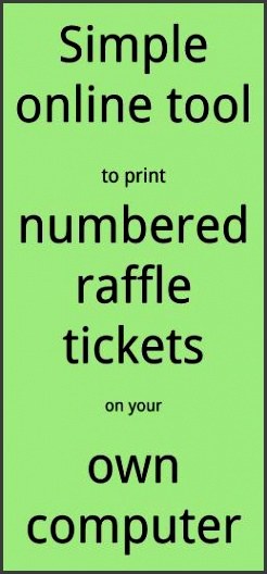 raffle ticket creator print numbered raffle tickets at home using word 2007 for windows pc