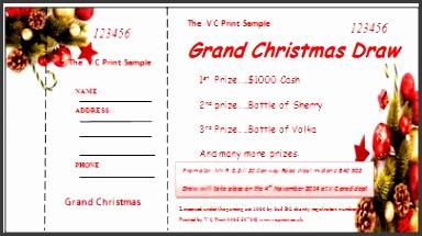 editable raffle ticket template