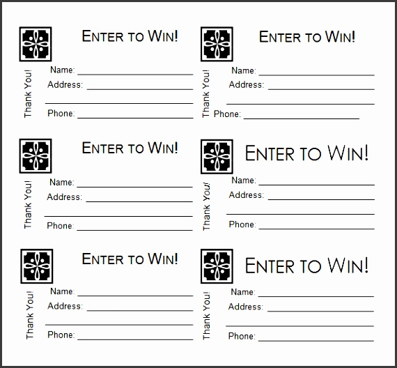 9 Raffle Ticket Example