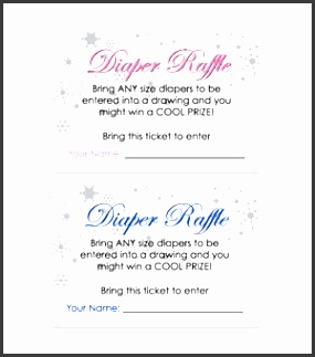 penguin theme diaper raffle tickets