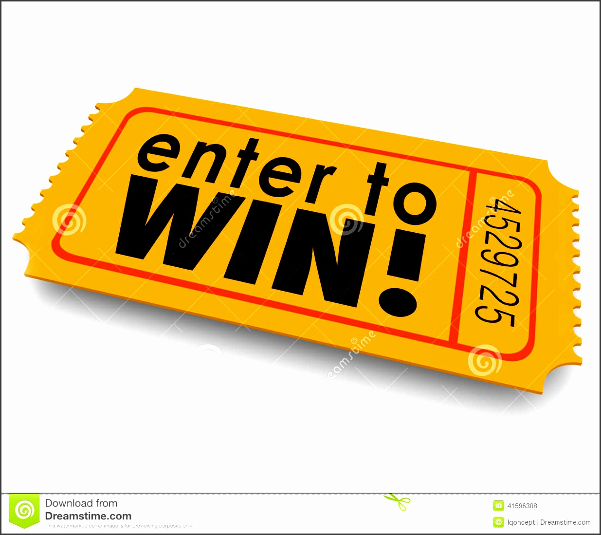 enter to win raffle ticket winner lottery jackpot royalty free illustration