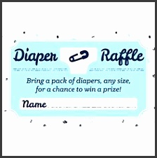 a free diaper raffle tickets printable and sign this is perfect for a baby shower