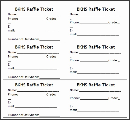 8 raffle ticket templates