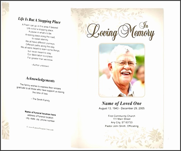 Ready To Use Funeral Program Template  Sampletemplatess