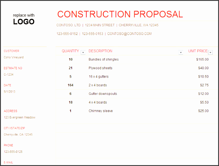 11 Renovation Work Estimate Template - SampleTemplatess ...