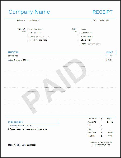 simple receipt template