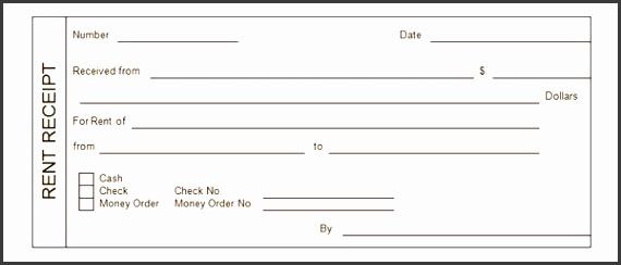 rent receipt form template