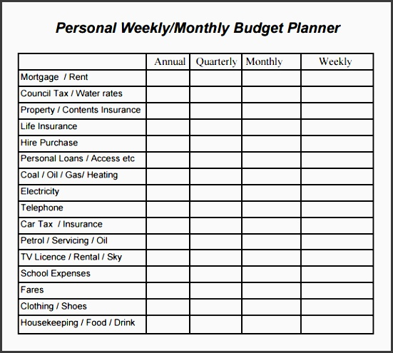 bud plans templates