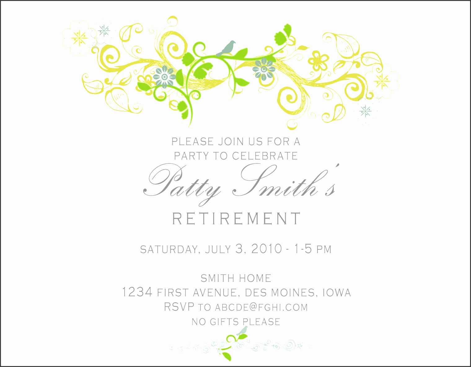 retirement party invitation template theruntime wedding invitations