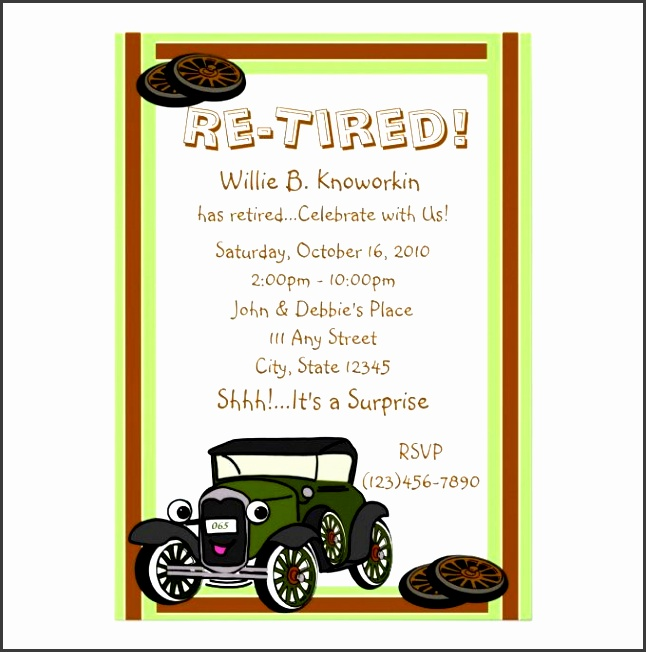 party invitation templates surprise retirement